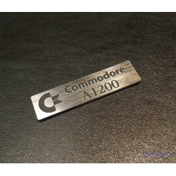 Commodore Amiga 1200 Label / Logo / Sticker / Badge brushed aluminum 49 x 13 mm [263]