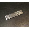 Commodore Amiga 1200 Label / Logo / Sticker / Badge brushed aluminum 49 x 13 mm [263]