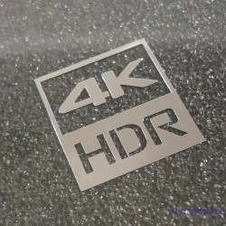 4K HDR Metal Chrome Label / Aufkleber / Sticker / Badge / Logo 20 x 20mm [430]