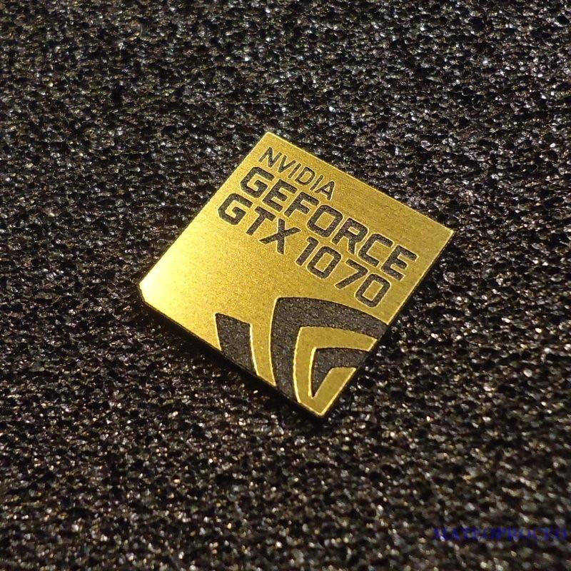 nvidia geforce gtx 1070 label sticker badge logo metal chrome