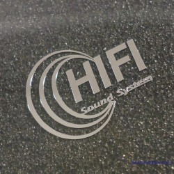 HiFi SOUND SYSTEM Label / Aufkleber / Sticker