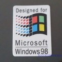 Windows 98 Label / Aufkleber / Sticker / Badge / Logo 25x35mm [435b]