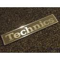 Technics Logo Emblem Badge brushed aluminum adhesive 34 x 6 mm [402c]