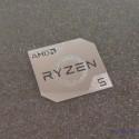 AMD RYZEN 5 Cpu PC Logo Label Decal Case Sticker Badge Silver [450b]