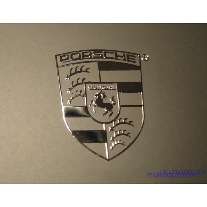 Porsche Label Sticker Badge Logo Metal Chrome