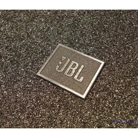 JBL Logo Emblem Badge brushed aluminum adhesive 28 x 23 mm [239]