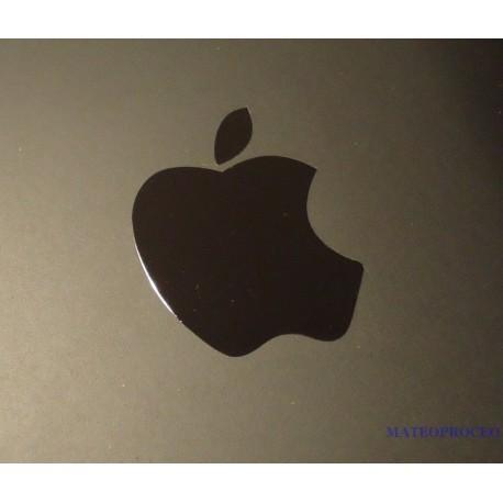 Apple Label / Aufkleber / Sticker / Badge / Logo metal/chrome 8mm x 10mm [007]