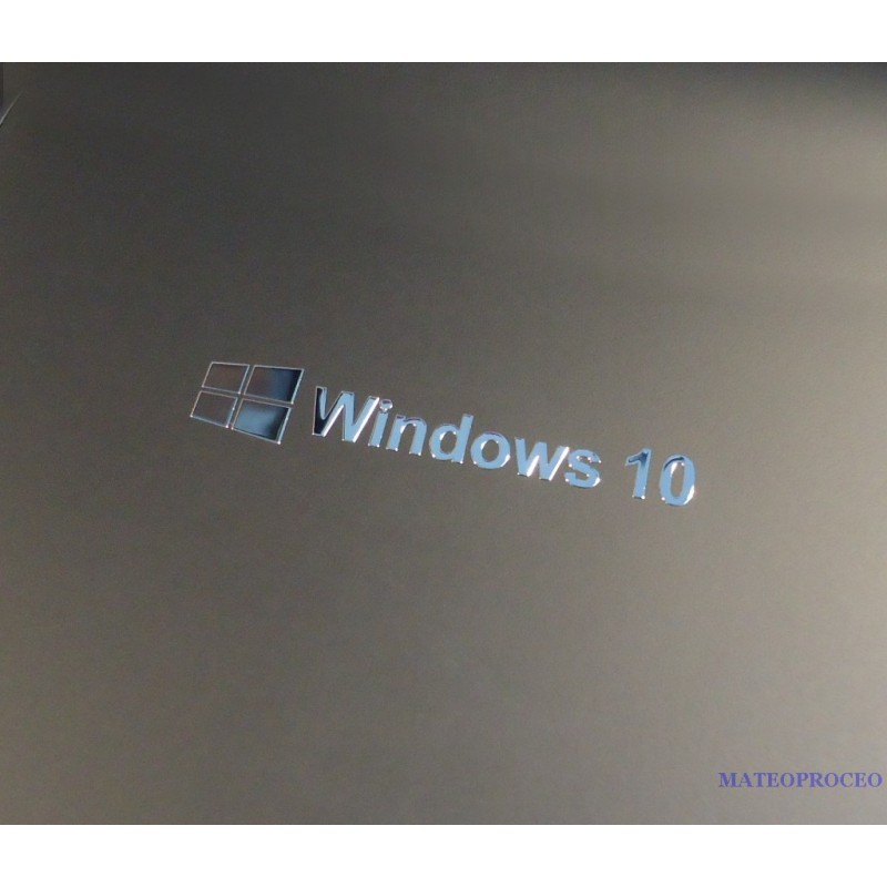 Windows 10 Label Sticker Badge Logo Metal Chrome