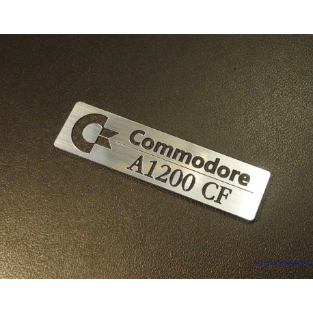Commodore Amiga 1200 CF Logo Badge 49 x 13 mm [263c]