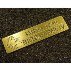 Amiga1230 Blizzard MK IV Badge gold 49 x 13 mm [412b]