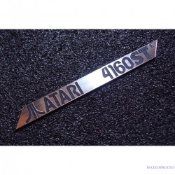 Atari 4160 STE  Label / Logo / Sticker / Badge brushed aluminum 100 x 10 mm [288d]