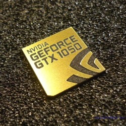 Nvidia GEFORCE GTX 1050 PC Logo Label
