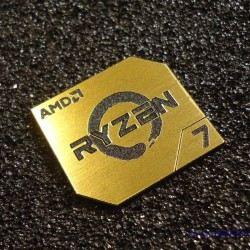 AMD RYZEN 7 CPU PC Logo Label Decal Case Sticker Badge