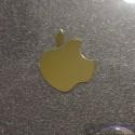 Apple Gold Label / Aufkleber / Sticker / Badge / Logo 24 x 30mm [007h]