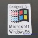 Windows 95 Label / Aufkleber / Sticker / Badge / Logo 25x35mm [435]