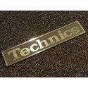 Technics Logo Emblem Badge brushed aluminum adhesive 34 x 6 mm [402c]