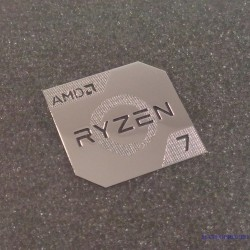 Metallic AMD RYZEN 7 Cpu PC Logo [450c]
