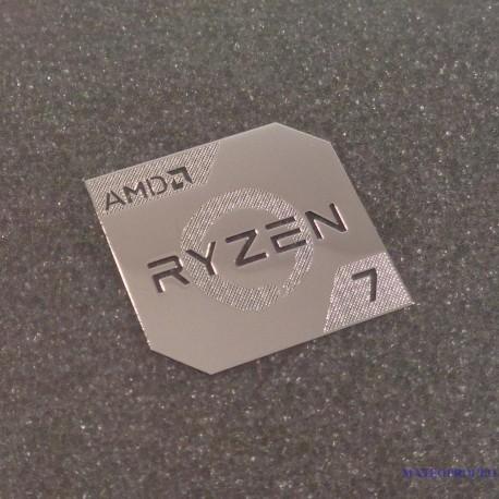 Metallic AMD RYZEN 7 Cpu PC Logo [450c]
