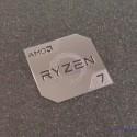 AMD RYZEN 7 Cpu PC Logo Label Decal Case Sticker Badge Silver [450c]