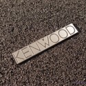 Kenwood Logo Emblem Badge Silver color brushed 3M adhesive 35 x 6,5 mm [451]