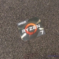 AMD RYZEN 7 Cpu PC Logo Label Decal Case Sticker Badge [450d]