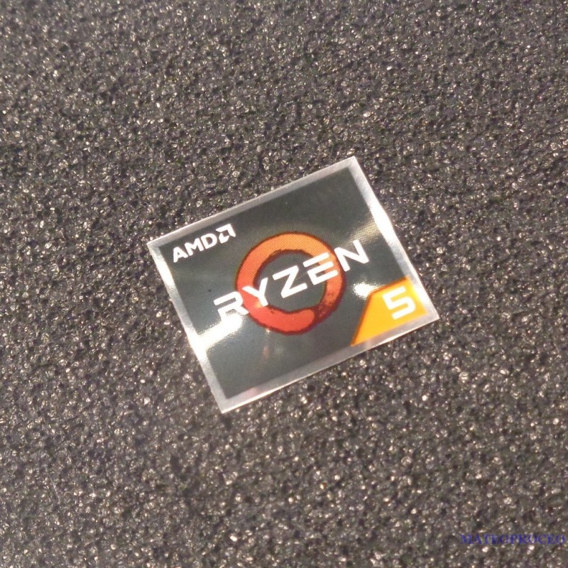 Metal Amd Ryzen 5 Cpu Pc Logo Sticker