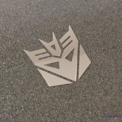 Transformers Decepticon Label Sticker Badge Logo [446b]