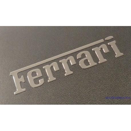 Ferrari Label  Sticker Badge Logo Silver [148b]