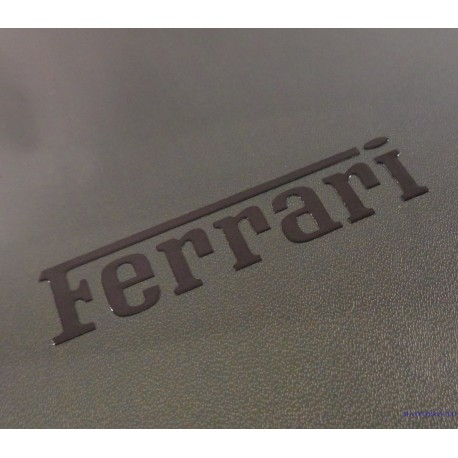 Ferrari Label Sticker Badge Logo Black 55 x 12mm [148c]