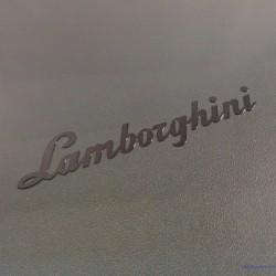Lamborghini Label Sticker Badge Logo Black [198c]