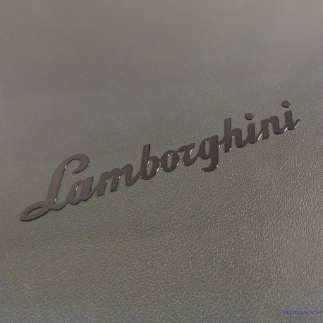Lamborghini Label Sticker Badge Logo Black [198c]