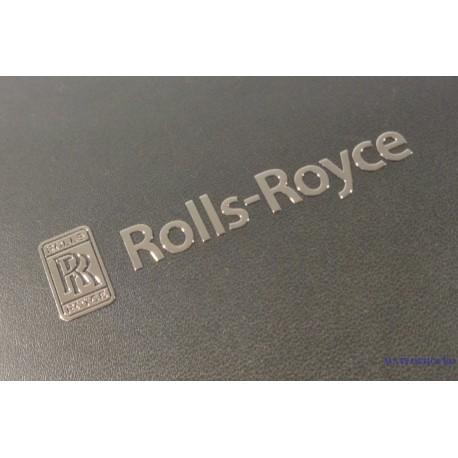 Rolls-Royce Label Sticker Badge Logo Silver 64 x 15mm [218b]