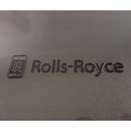 Rolls-Royce Label Sticker Badge Logo Black 64 x 15mm [218c]