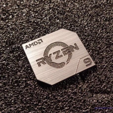 AMD RYZEN 9 CPU PC Logo Label Decal Case Sticker Badge SILVER [428e]