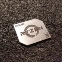 AMD RYZEN 3 CPU PC Logo Label Decal Case Sticker Badge SILVER [428f]