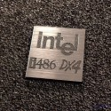 Intel 486 DX4 Label / Logo / Sticker / Badge 25 x 25 mm [285e]