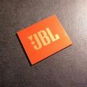 JBL Logo Emblem Badge Orange Gold adhesive 28 x 23 mm [239g]