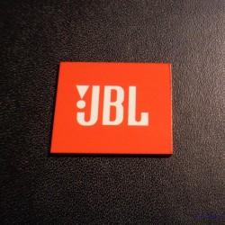JBL Logo Orange White adhesive 28 x 23 mm [239h]