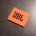 JBL Logo Emblem Badge Orange Black adhesive 28 x 23 mm [239i]