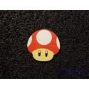Mushroom Mario Toad Label / Logo / Sticker / Badge 30 x 30 mm [290d]