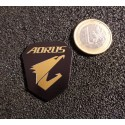 Gigabyte Aorus Gaming Label / Aufkleber / Sticker / Logo 30 x 35mm [462b]