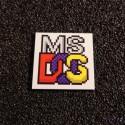 MsDOS Color Label / Logo / Sticker / Badge 25 x 25 mm [420c]