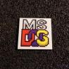 MsDOS Label / Logo / Sticker / Badge 25 x 25 mm [420b]