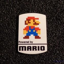 Super Mario 8-bit NES Nintendo Logo Label Decal Case Sticker Badge [452b]