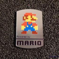 Super Mario Bros 8-bit NES Nintendo Logo Label Decal Case Sticker Badge [452c]