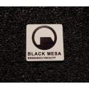 "Black Mesa Half-Life Label / Aufkleber / Sticker / Badge / Logo 1x1"" [475c]"