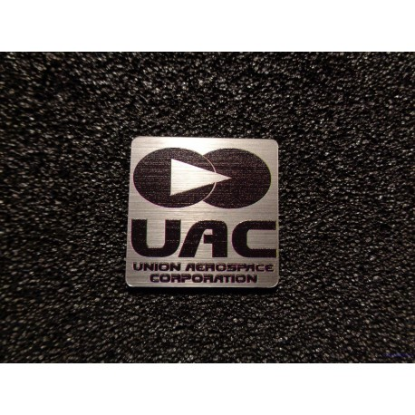 Doom UAC Union Aerospace Corporation Retro PC Logo Badge [478b]