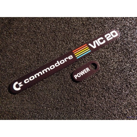 Commodore VIC 20 Label Aufkleber Sticker Badge Logo 11cm x 1,1cm [460]