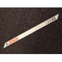 Atari 130XE Label / Logo / Sticker / Badge brushed aluminum 162 x 10 mm [293e]