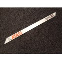 Atari 800XE Label / Logo / Sticker / Badge brushed aluminum 162 x 10 mm [293g]